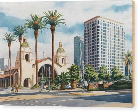 Santa Fe Depot San Diego Wood Print