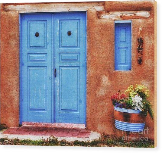 Santa Fe Doorway Wood Print