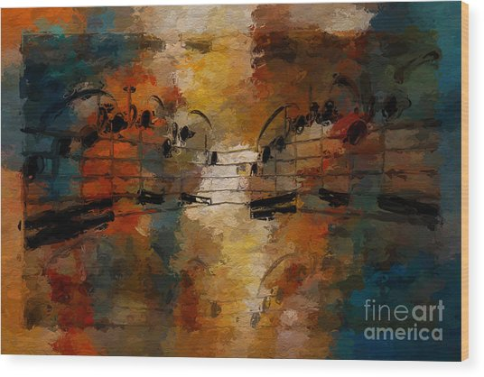 Santa Fe Intermezzo Wood Print