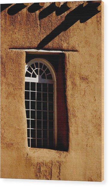 Santa Fe Nm Window Wood Print by Jacqueline M Lewis