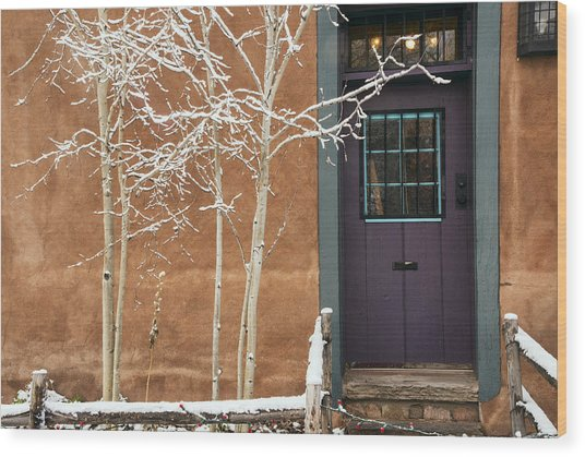 Santa Fe Purple Door Wood Print