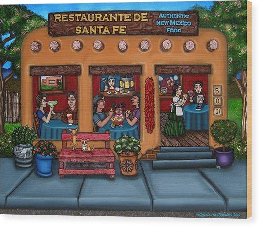 Santa Fe Restaurant Wood Print