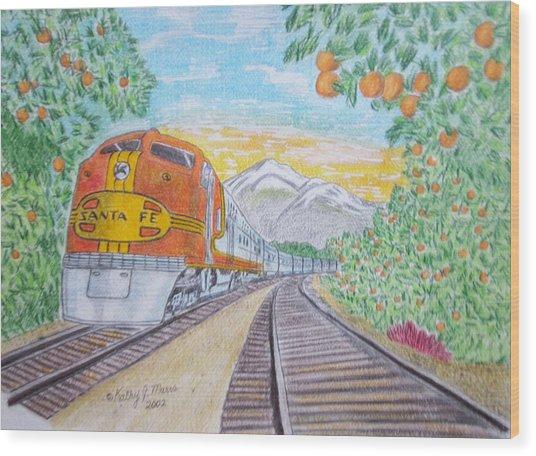 Santa Fe Super Chief Train Wood Print