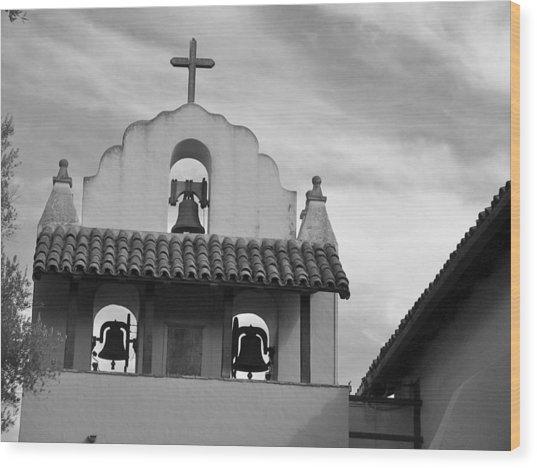 Santa Ines Mission Bell Tower Wood Print