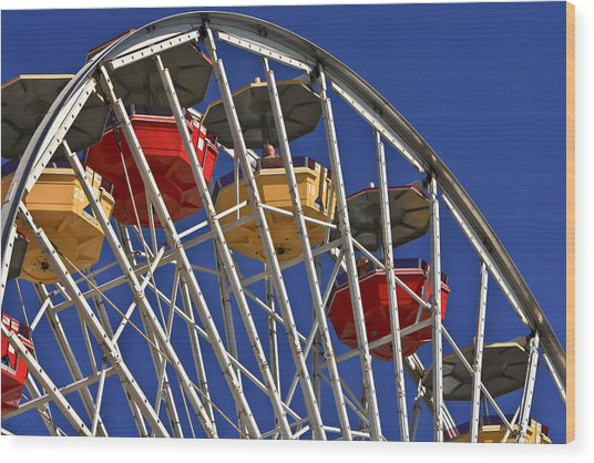 Santa Monica Pier Ferris Wheel Wood Print