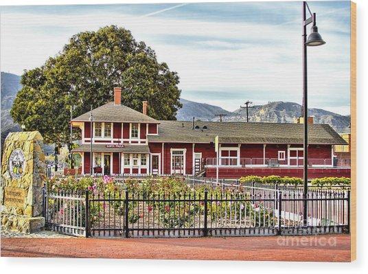 Santa Paula Train Station Wood Print