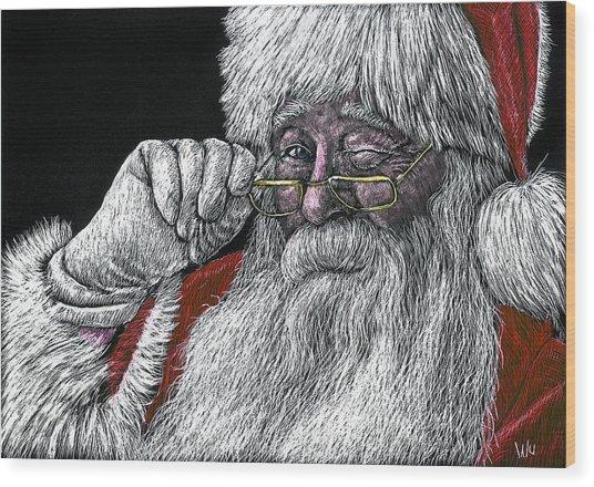 Santa Wood Print