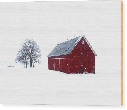 Santa's Barn Wood Print
