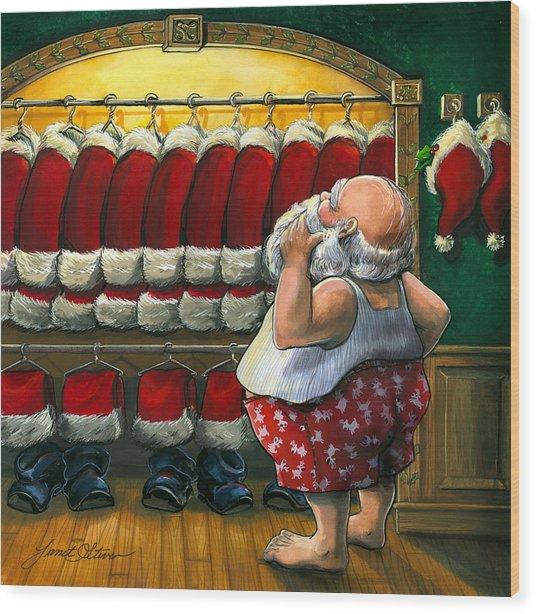 Santa's Closet Wood Print