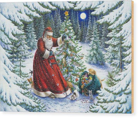 Santa's Little Helpers Wood Print