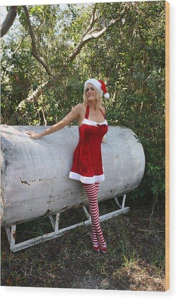 Santa's Naughty Lil' Helper 1345 Wood Print