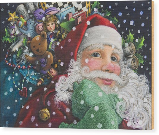 Santa's Toys Wood Print