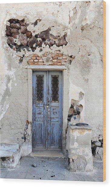Santorini Greece Wood Print