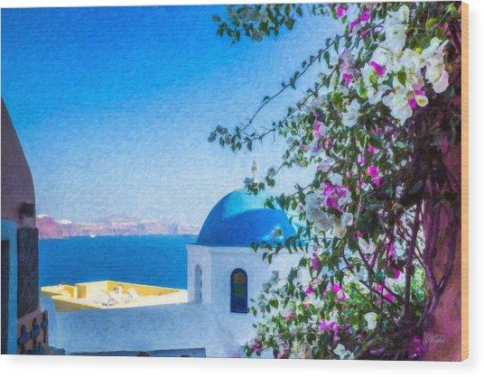 Santorini Grk4166 Wood Print