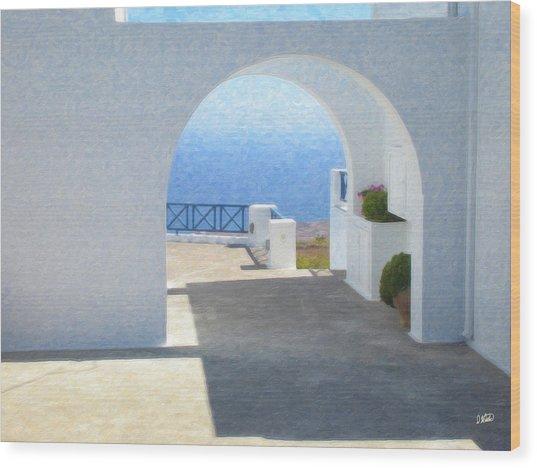 Santorini Grk8681 Wood Print
