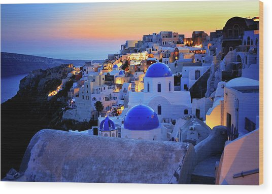 Santorini Island, Greece Wood Print