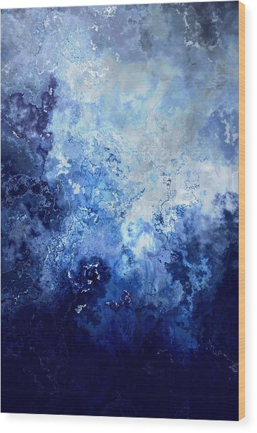 Wood Print featuring the painting Sapphire Dream - Abstract Art by Jaison Cianelli