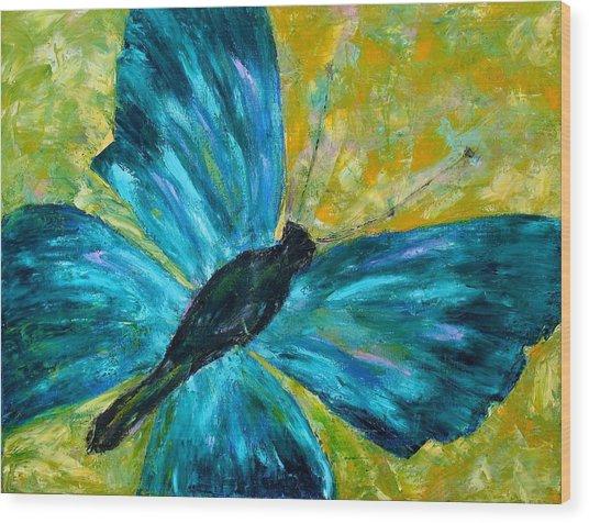 Sapphirine Butterfly Wood Print