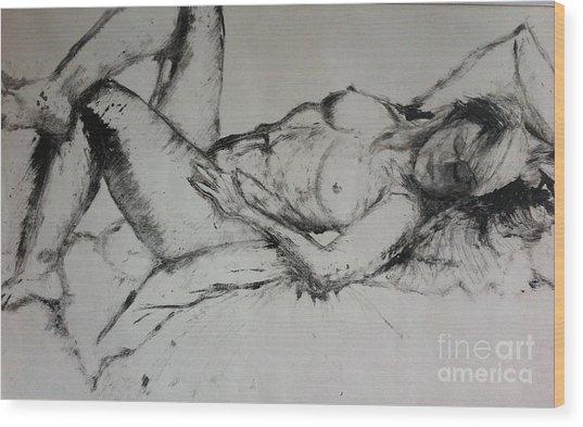 Sarah Sleeping Wood Print
