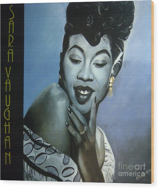 Sarah Vaughan Wood Print