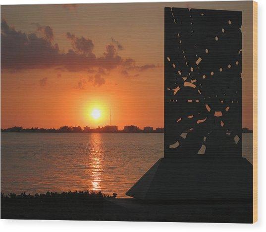 Sarasota Bay Sunset Wood Print