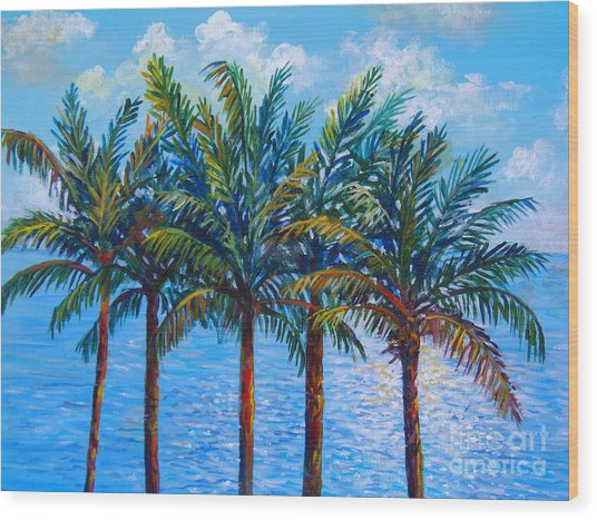 Sarasota Palms Wood Print