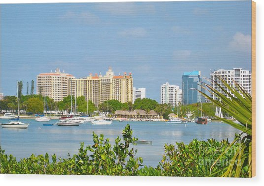 Sarasota Skyline Wood Print