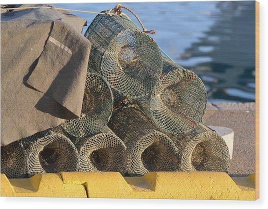 Sardinian Crab Traps Wood Print