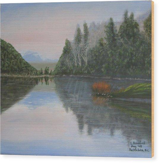 Sarita Lake On Vancouver Island Wood Print