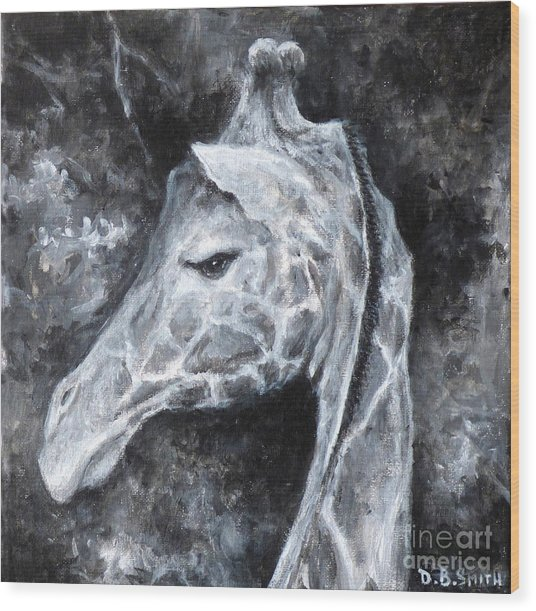 Sassy Giraffe Wood Print