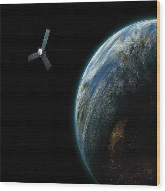 Satellite Planet No.2 Wood Print