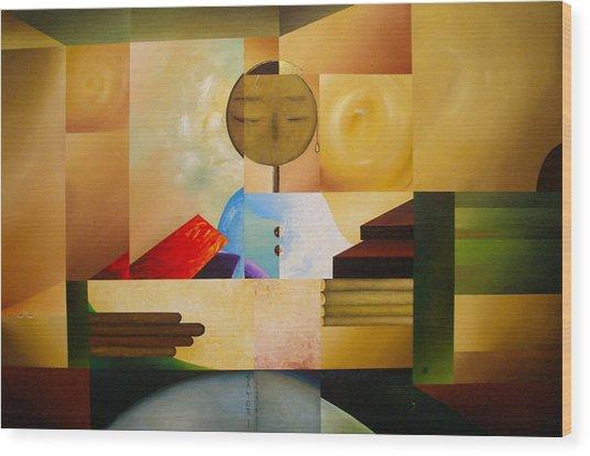 Satori Wood Print by Laurend Doumba