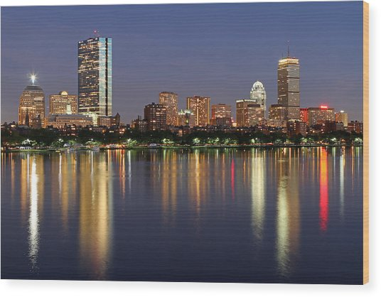 Saturday Night Live In Beantown Wood Print