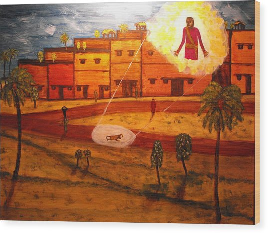 Saul On The Damascus Road Wood Print