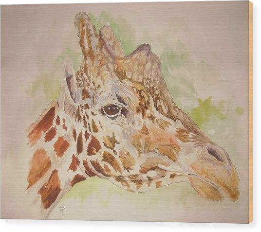 Savanna Giraffe Wood Print