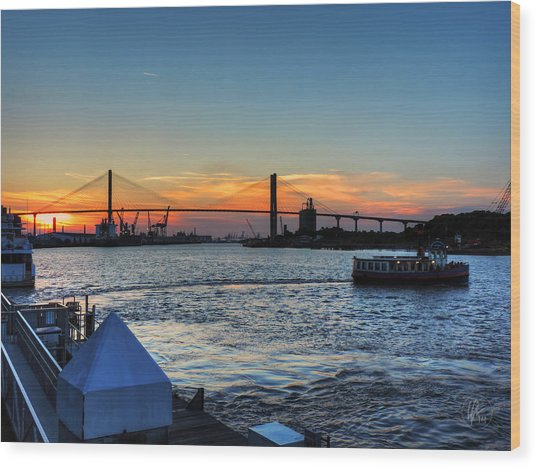 Wood Print featuring the photograph Savannah River 001 by Lance Vaughn
