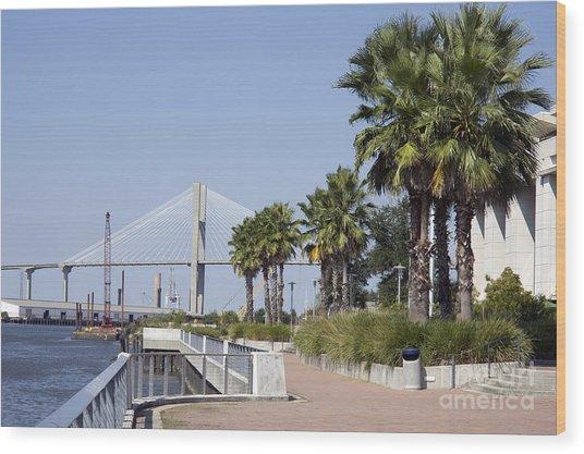 Savannah Riverwalk Wood Print