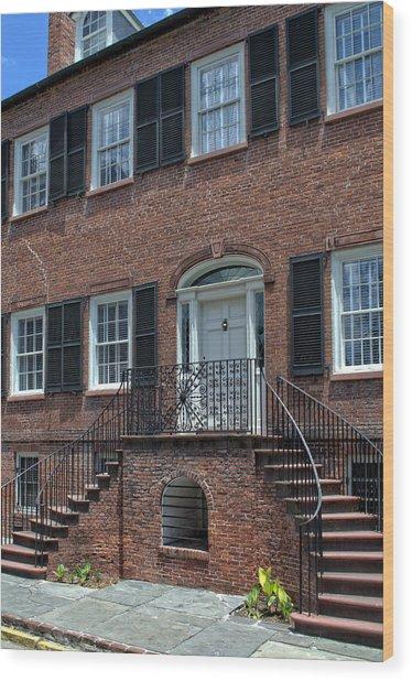 Savannah's Davenport House Wood Print