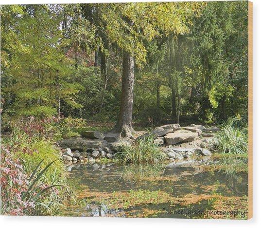 Sayen Gardens Pond Wood Print