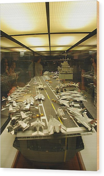 Scale Model Aircraft Carrier Wood Print