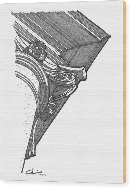 Scamozzi Column Capital Wood Print