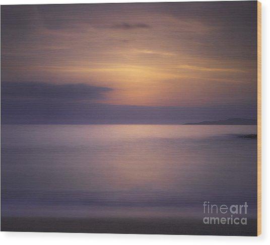 Scarasta Sunset No1 Wood Print by George Hodlin