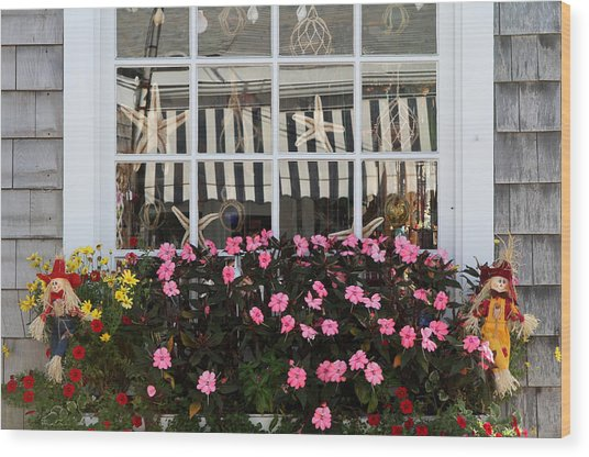 Scarecrows On Martha's Vineyard  Wood Print by Juergen Roth