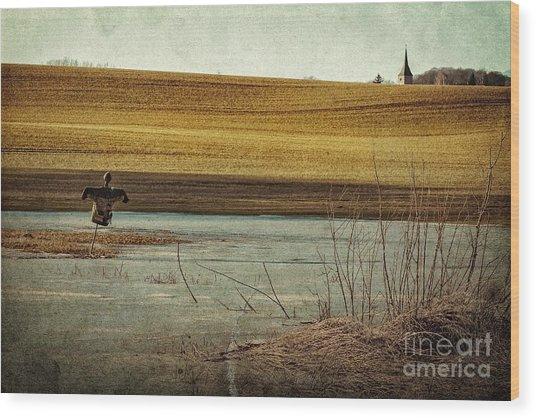 Scarecrow's Realm Wood Print