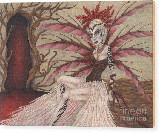 Scarlet Wood Print by Coriander  Shea