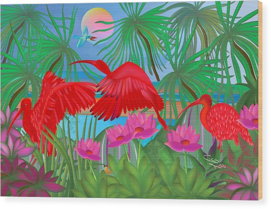 Scarlet Summer Dance - Limited Edition 1 Of 20 Wood Print