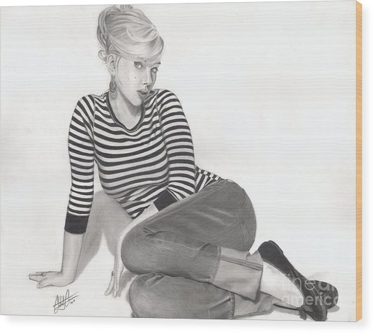 Scarlett Wood Print