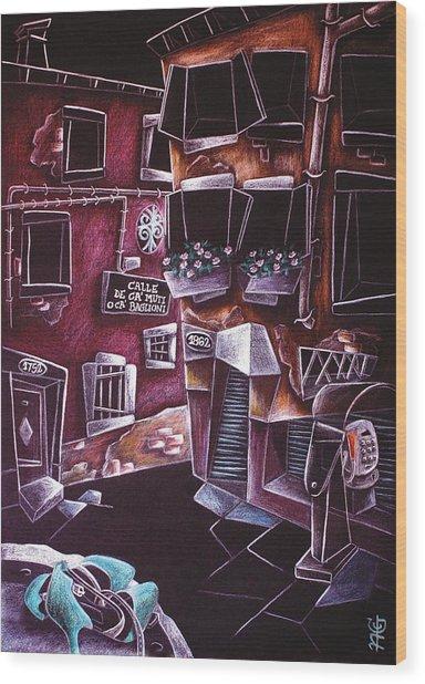 Scarpe Da Tango - Contemporary Venetian Artist - Modern Art Wood Print by Arte Venezia