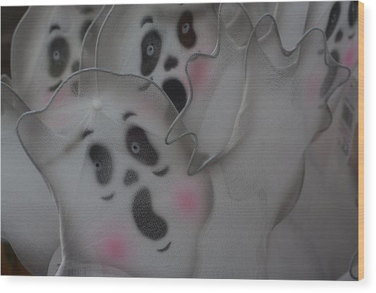 Scary Ghosts Wood Print