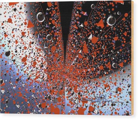 Scatter Burst One Wood Print